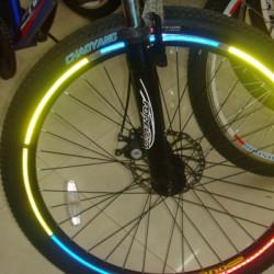10 X Fahrrad reflektierendes Material Felgen Aufkleber Abziehbilder