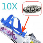 10x Bicycle Cycle Bike Bottle Cage Holder Hexagon Screws Bolts Cycling