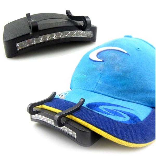 11 LED Clip-On Cap Lys Lampe Vandring Camping Fiskeri Udendørs Minehjelme med Lys Udsat Cykel