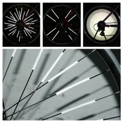 12 St Bicycle Wheel Spoke Den Reflekterande Mount Clip Tube