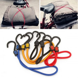 2PCS Bicycle Rubber Bungee Cord Elastic Luggage Tied Rope