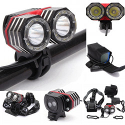 2XT6 XM-L Headlight Headlamp Torch Lamp Bike Bicycle Light Flashlight