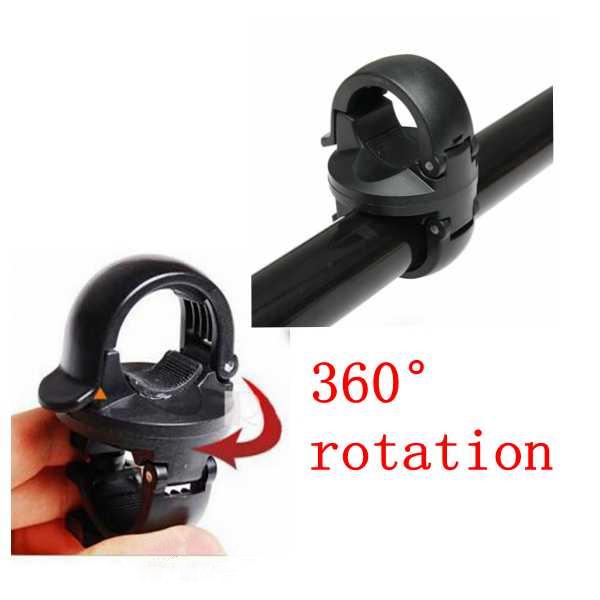 360 ° Rotation Ficklampa Clip Mount Cykel Front Fäste Ficklampa Holder Cykel
