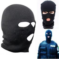 3 Loch gestrickte Gesichtsmaske Sturmhaube Hut Ski Armee Kappebeanie Hood