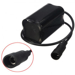 4200mAH 4.2V Rechargeable Battery Pack for Bike Headlight Headlamp