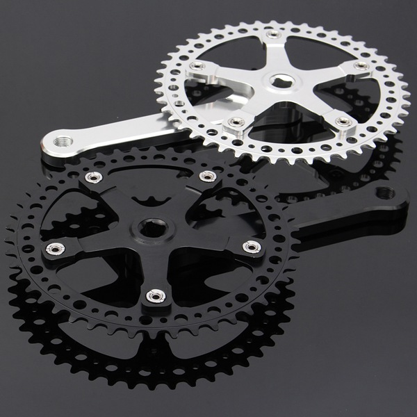 46T 48T Single Speed Fixed Gear Road Bike Compact Crankset Cycling