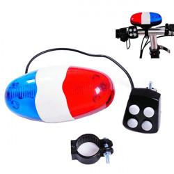 4 Sound 6 LED Sicherheit Fahrrad Warnung Horn Bell Ring vorne Warnlicht