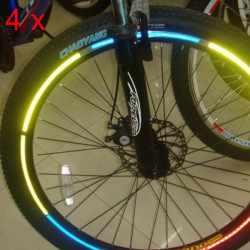 4pcs Bike Bicycle Wheel Rims Reflective Stickers Luminous