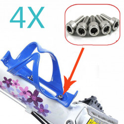 4x Bicycle Cycle Bike Bottle Cage Holder Hexagon Screws Bolts