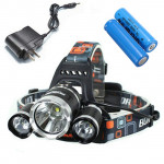 5000Lm CREE XM-L T6 LED 3T6 Uppladdningsbara Strålkastare Ficklampa Cykel