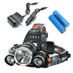 5000Lm CREE XM-L T6 LED 3T6 Rechargeable Headlamp Headlight Torch