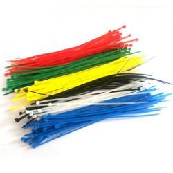 500 Stück Kabel Draht Schnur Zip Selbsthemmend Nylon Kabelbinder Größe Wraps