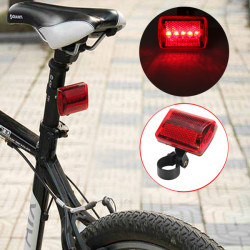 5 LED Fahrrad Rücklicht Fahrrad rote Blitzlicht Rücklicht 7 Modus