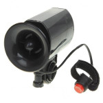 6 Alarm Sound Bicycle Horn with Mount Black 1*6F22 9V 100dB Cycling