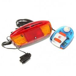 9 LED Turning Signal Lights med Elektronisk Horn för Cyklar (2 * AA)