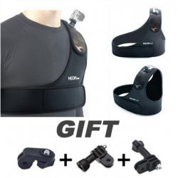 Verstellbare Schulter Brustgurt Gürtel Plattenmontage für Sport Kamera