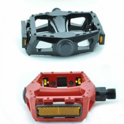 Aluminum alloy bicycle colorized pedals with anti-skid nails