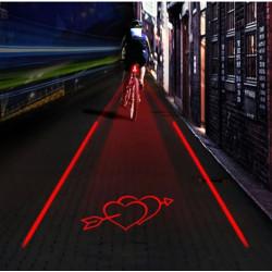 Cykel 5 LED Intelligent Laser Baglygte