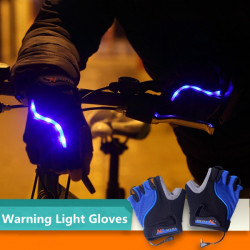 Bicycle Bike Cycling Gloves LED Lighting Half Finger Gloves