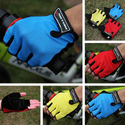 Bicycle Bike Gel Half Finger Fingerless Gloves