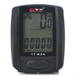 Cykel Bike LCD Computer Speedometer Kilometertæller Termometer