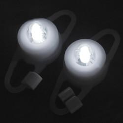 Fahrradlampe 2 Modi Tie On Licht Schlüsselanhänger Weiß LED (1 Paar)