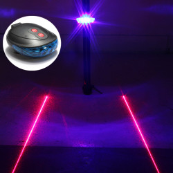 Bike Bicycle 5 LED 2 Laser Beam Tail Light Safety Rear Lamp Blue