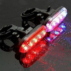 Bike Bicycle Cycling 5 LED Warning Tail Rear Flash Light Lamp