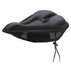 Bike Bicycle Silicone Soft Gel Saddle Seat Cover Cushion Pad Black