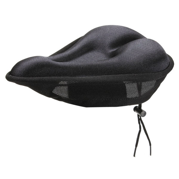 Bike Bicycle Silicone Soft Gel Saddle Seat Cover Cushion Pad Black Cycling