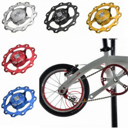 Bike Cycling Rear Mech Derailleur Pulley Wheel Aluminum Alloy Mountain Bicycle