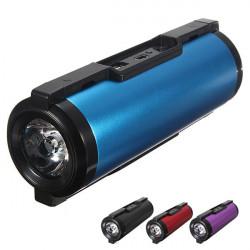 Fahrrad LED Taschenlampe MP3 Lautsprecher bewegliche Energien Bank FM