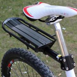 Schwarz Erweiterbar Fahrradsattelstütze Strahlgepäckträger