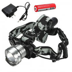 CREE T6 LED 1600Lm Rechargeable Zoomable Bike Headlight Headlamp