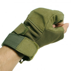 Cycling Hellstorm Tactical Glove Half Finger Arm Green