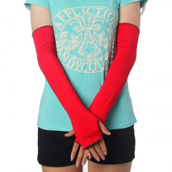 Cycling Protective Cotton Fingerless Warm Sleeve Gloves