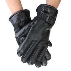 Radfahren Reiten Fahrrad Winter Leder warme Handschuhe