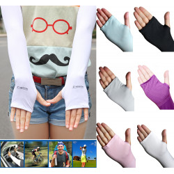 Cycling Sport Bicycle Bike UV Proof Protective Elastic Arm Sleeves