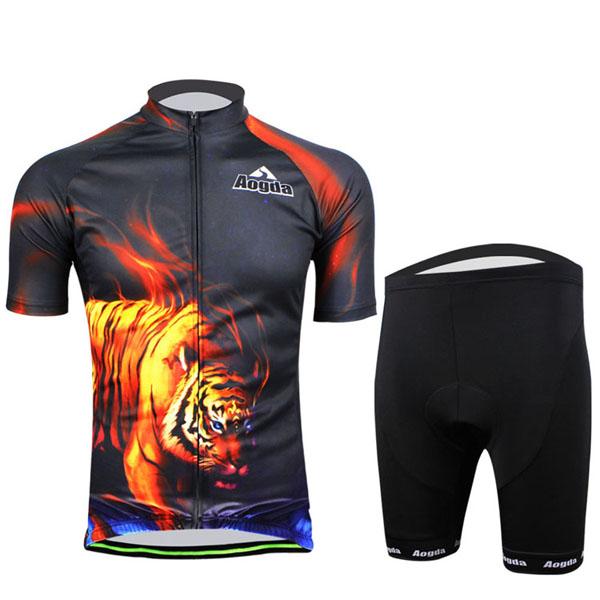 Radfahren Anzug Fahrrad Bike Wear Men Shirt und Shorts Tiger Fahrrad