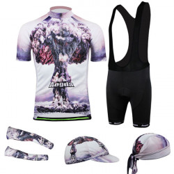 Cycling Suit Bicycle Bike Wear Shirt Men Jersey Bib Shorts Atom