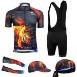 Radfahren Anzug Fahrrad Abnutzungs Hemd Männer Jersey Trägerhose Tiger Fahrrad