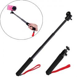 Udtrækkeligt Teleskopfunktion Pole Håndholdt Monopod for Gopro Hero123 Kamera