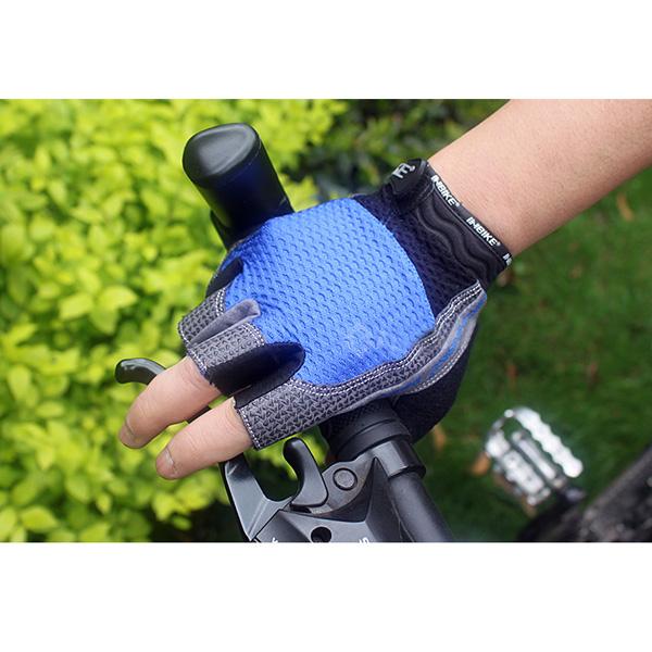 Inbike Cykling Handsker Halvdelen Finger Handsker -Male Sort Rød Blå Cykel