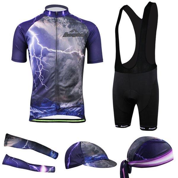 Herren 3D Radfahren Fahrradbekleidung Bike Cloth Trägerhose Shirt Jersey Fahrrad