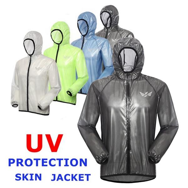 Außen UV Bekleidung Jacken Hautregenjacke Sonnenschutzregenbekleidung Fahrrad