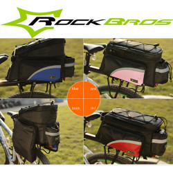 ROCKBROS Bike Bag Bicycle Rear Seat Bag Tail Bag Pannier Bag