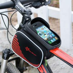 ROCKBROS Cykel Fram Ramväska Pannier Smartphone Väska Sadelväska