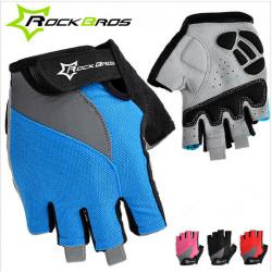 ROCKBROS Sports Cycling Bike GEL Silicone Half Finger Gloves