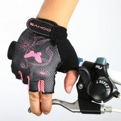 Sahoo weiblichen Halb Finger Fahrradhandschuh Fahrradhandschuhe Fahrradhandschuh