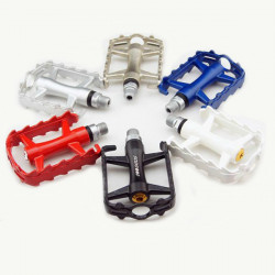 SCUDGOOD Double Bearing Aluminum Alloy Bicycle Bike Pedals Multicolor